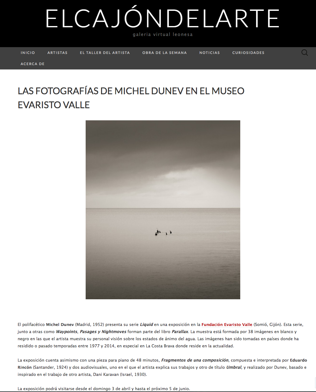 LIQUID Exhibition review in El Cajón del Arte