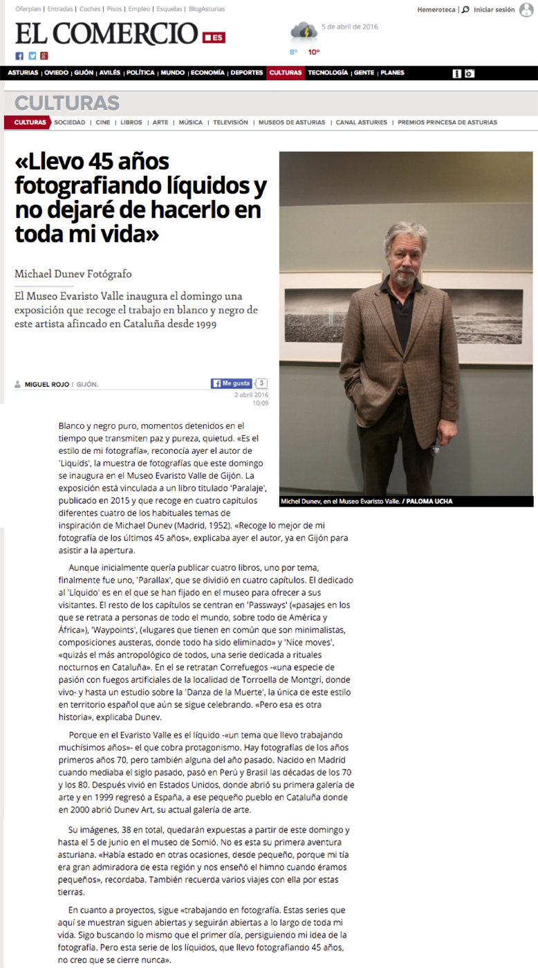 LIQUID Exhibition review in El Comercio