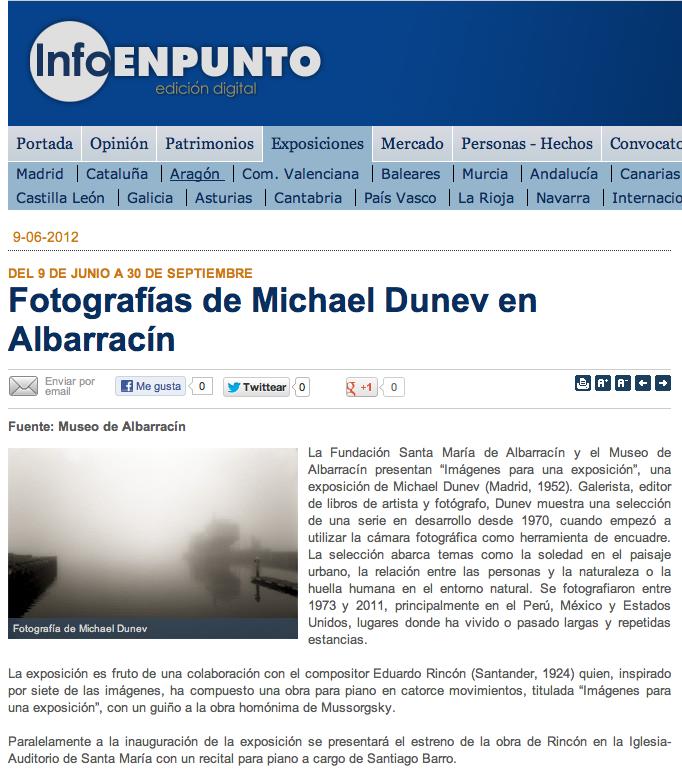 Imágenes para una exposición: prensa en InfoenPunto