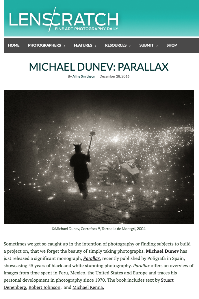 Press review about Parallax in Lenscratch