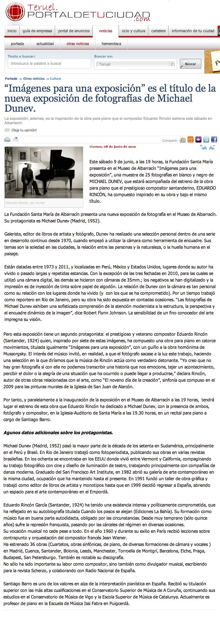 Imágenes para una exposición: prensa en Teruel