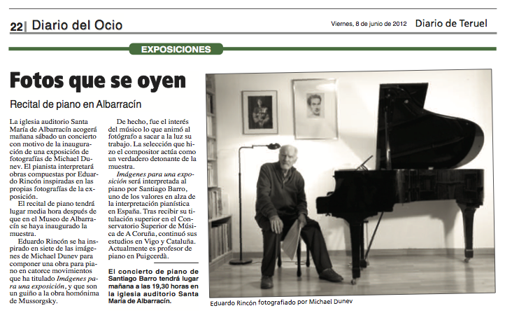 Images for an Exhibition review in Diario del Ocio