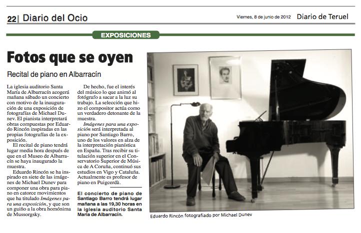 Imágenes para una exposición: prensa en Diario del Ocio